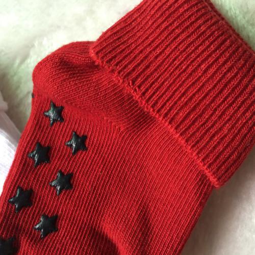 Anti-slip barnstrumpa 3-pack - Röd, Vit & Blå