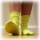 Candy Sock - Gulgrön 5-pack