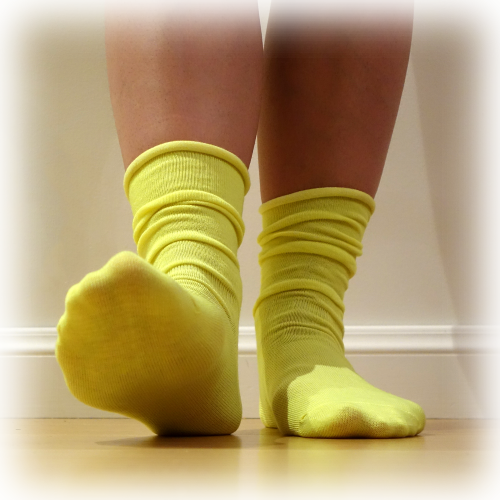 Candy Sock Lemon - 10 par gula strumpor för damer