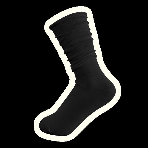 Candy Sock Licorice - 10 par svarta damstrumpor med lös resår